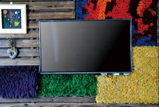 テレビや壁の装飾に